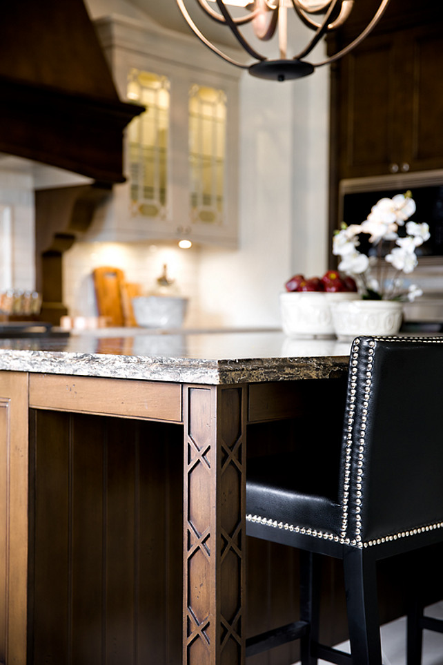 Kitchen Island Cabinet Ideas. Sophisticated Kitchen Island. #Kitchen #KitchenIsland #Interiors Designed by Jane Lockhart