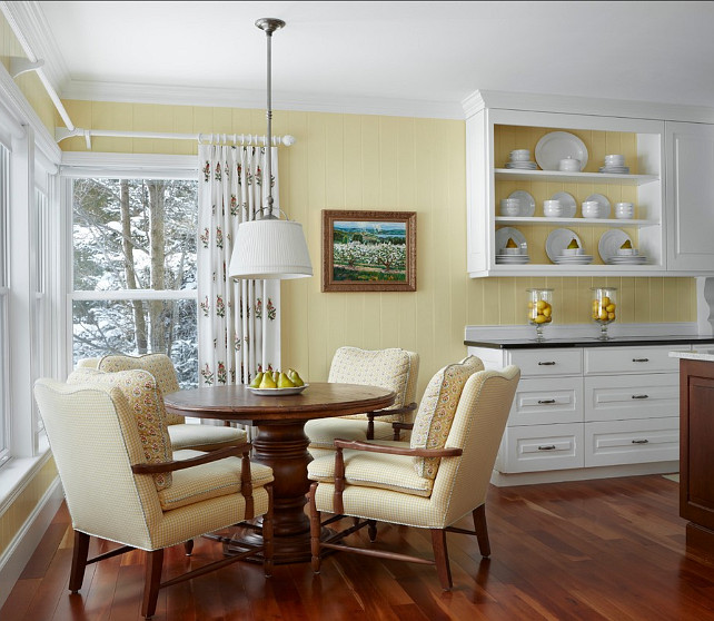 Pale Yellow Kitchen Cabinets: Traditional, Transitional & Coastal Interior Design Ideas