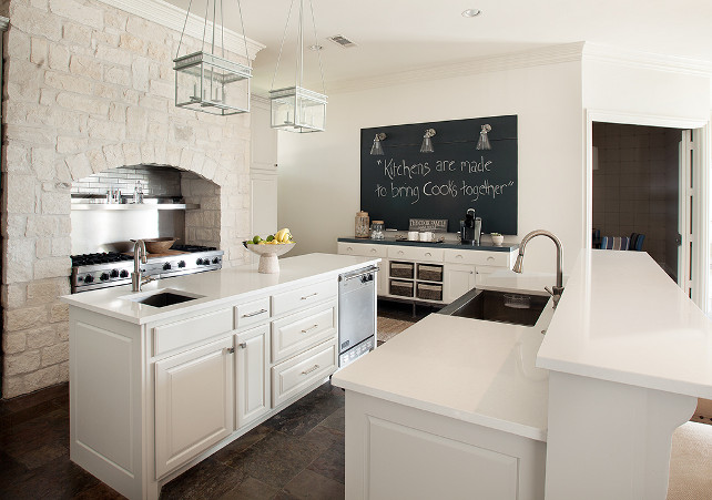 Kitchen. Transitional White Kitchen. #Kitchen #TransitionalKItchen #WhiteKitchen #RusticKitchen Tracy Hardenburg Designs.