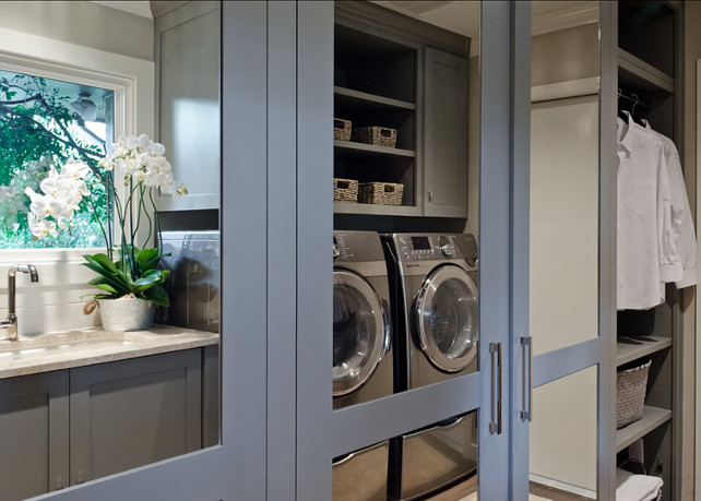 Laundry Room and Mudroom Combined. Mudroom. Laundry Room. Mudroom Cabinet Ideas. #Mudroom #LaundryRoom
