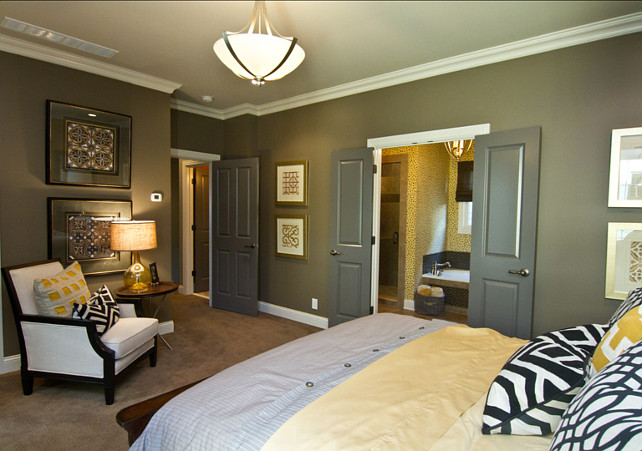 Dark Gray Paint Color. Porter Paint. Color is Clamshell 516-6. #DarkGrayPaintColor #GrayPaintColor