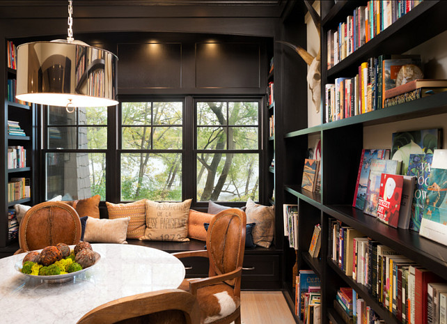 Library and Den Design Ideas. Stunning wood paneled library. Transitional Library. #LibraryDesign #DenDesign #Den #Library Designed by Kyle Hunt & Partners, Incorporated.