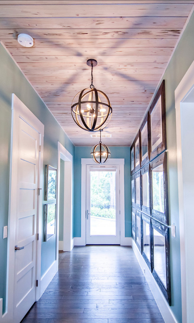 Lighting Ideas. Hallway with great lighting. Lighting is the Troy Lighting F2514 Transitional Four Light Pendant from the Flatiron Collection. #Lighting