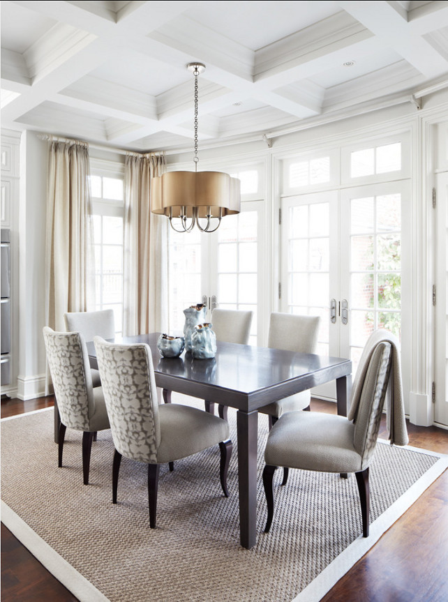 Dining Room. Dining Room Design Ideas. Dining room with neutral decor. #DiningRoom