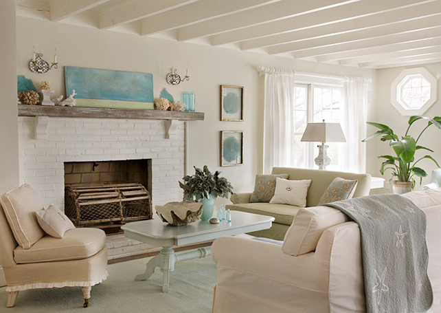 Living Room. Coastal Living Room Decor. #LivingRoom #CoastalDecor