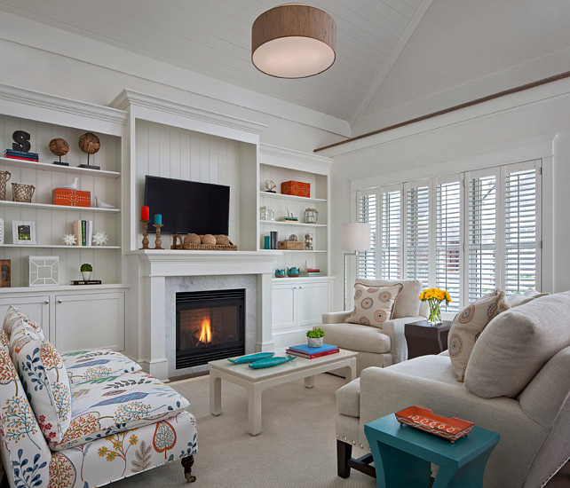 Living Room. Coastal Living Room Design. #LivingRoomDesign #CoastalDecor Designed by Cottage Company Interiors.
