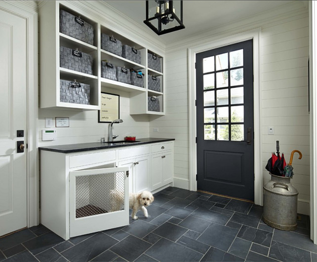 Mudroom. Mudroom with dog house. #Mudroom Murphy & Co. Design.