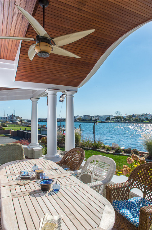 Patio Decor. Beautiful waterfront patio with great patio decor ideas. #Patio #Patiodecor CMM Construction Inc.