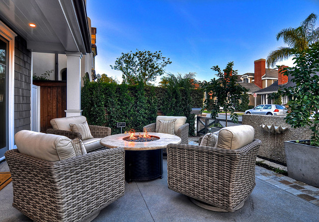 Patio Design Ideas. Patio with comfortable and stylish outdoor furniture. #patio #PatioDecor #OutdoorFurniture