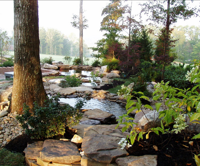 Pond. Garden Pond Ideas. Natural pond design. Acadia Design Group