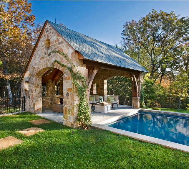 Pool Ideas. Pool and Pool Cabana. #Pool #PoolCabana #PoolIdeas #Backyard Normandy Remodeling.