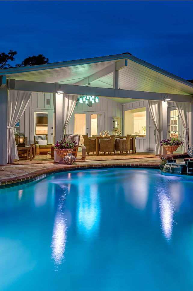 Pool. Backyard with Pool. Pool Ideas. #Pool  Beach Chic Design Interior Designers & Decorators.