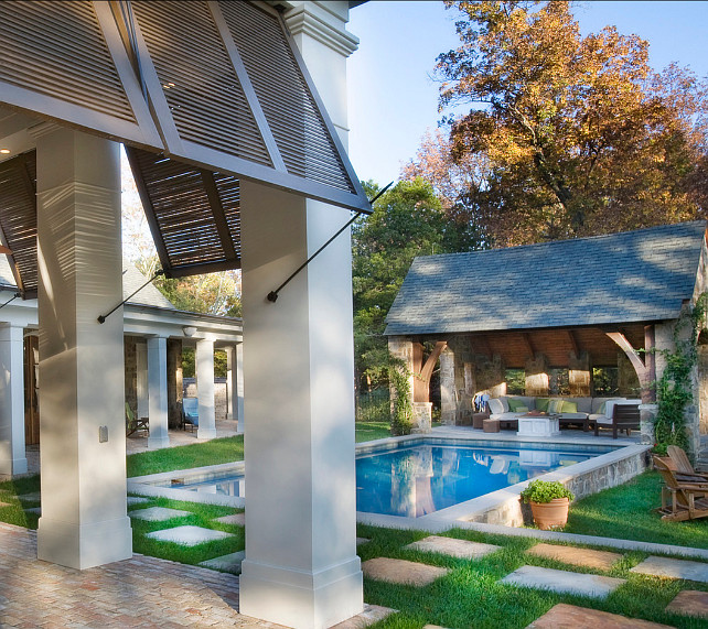Pool. Backyard with pool and pool pavilion. Pool Ideas. #Pool #Backyard Normandy Remodeling.