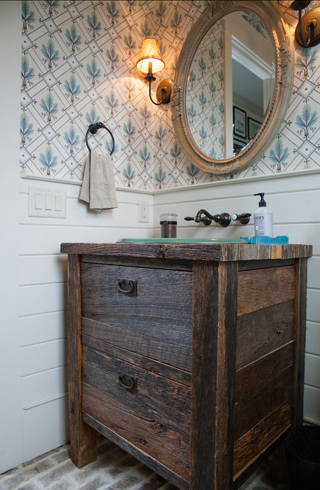 Powder Room. Power Room Ideas. Rustic Powder room design. Keystone Millworks Inc.
