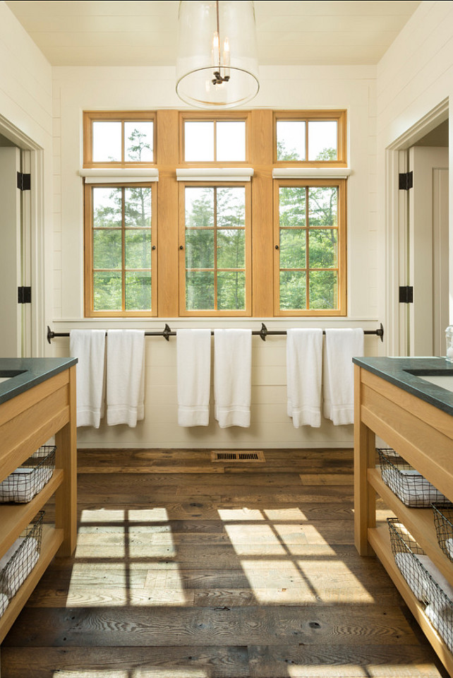 Rustic Bathroom Ideas. Rustic Bathroom with plank walls and reclaimed hardwood flooring. Rustic Bathroom Design