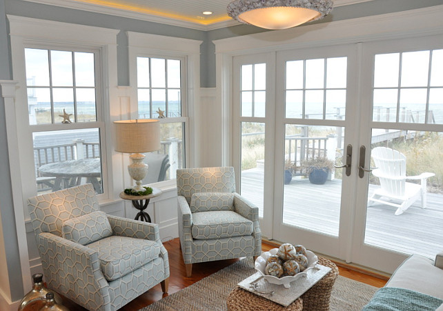 Seating Area. Seating Area Ideas. This cozy seating area is perfect for reading or just enjoy the ocean views. #SeatingArea #SittingArea