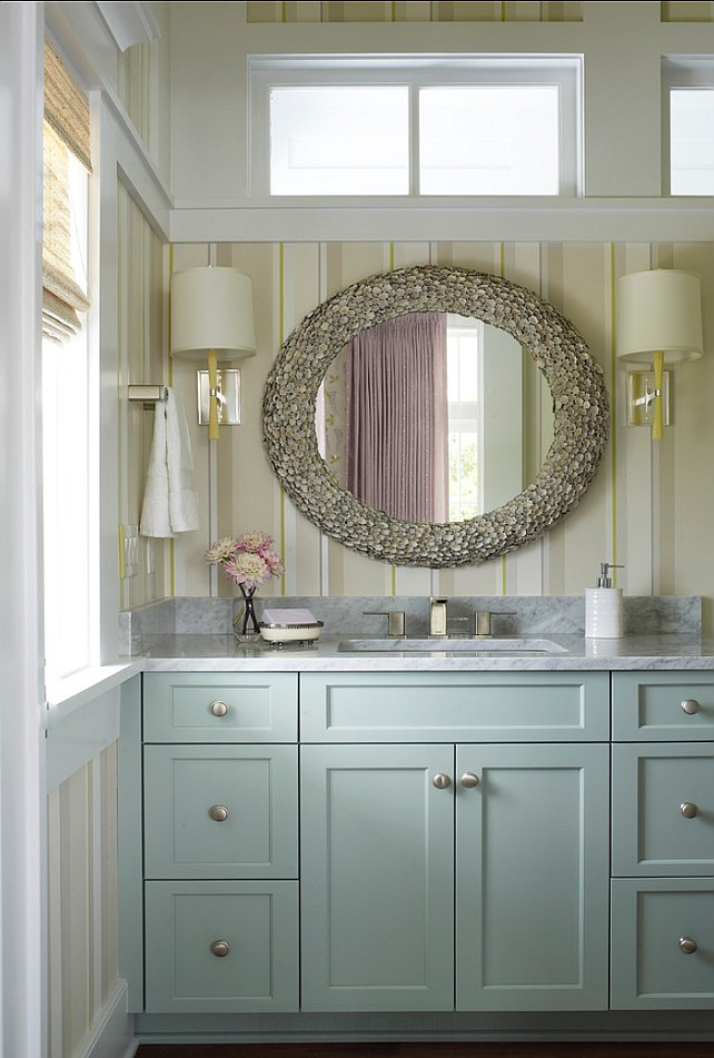 Grey Powder Room Cabinets