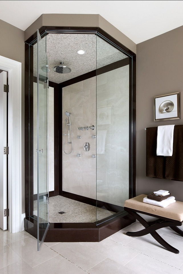 Shower Ideas. Shower Design Ideas. #Shower #ShowerDesign #ShowerDesign Designed by Jane Lockhart.