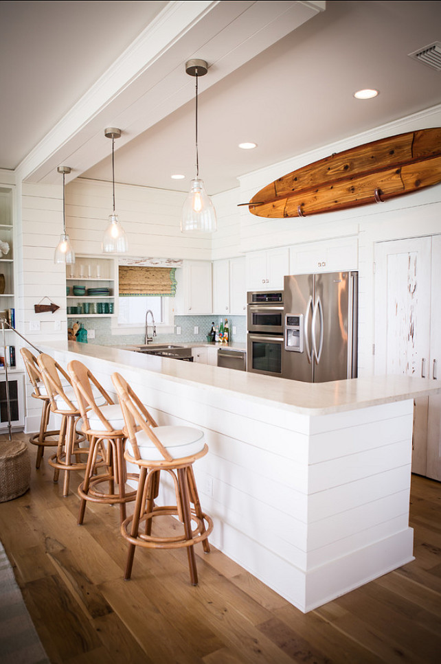 Small Kitchen Design. California beach small kitchen design. #SmallKitchen #SmallSpaces #SmallInteriors