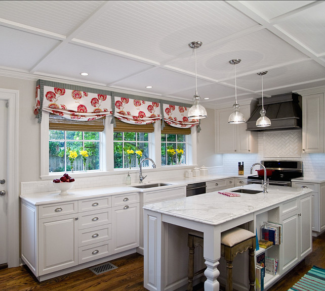 Small Kitchen Island. Vintage Inspired Kitchen Studio M Interior Design, Inc.