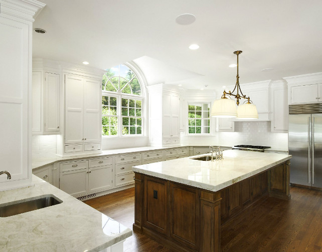 So. Kitchen. White Kitchen with large island. #WhiteKitchen #Island
