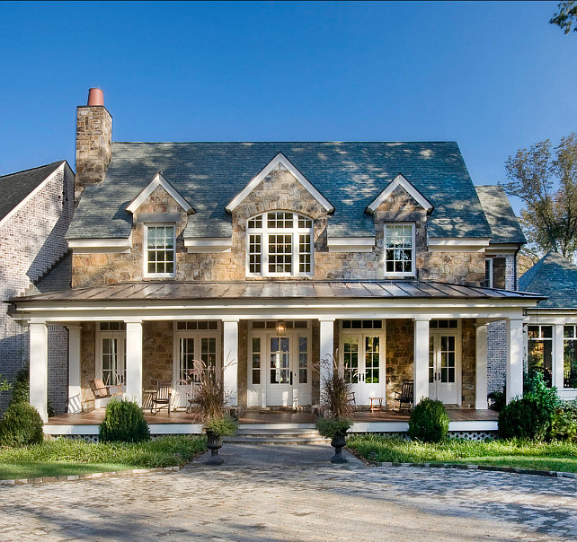 Stone Homes Exterior Ideas. Home Exterior Ideas. Traditional Stone Home Exterior Design. Stone is Tennessee Fieldstone. #HomeExteriors #TraditionalHomes #HomeExteriorDesign Normandy Remodeling.
