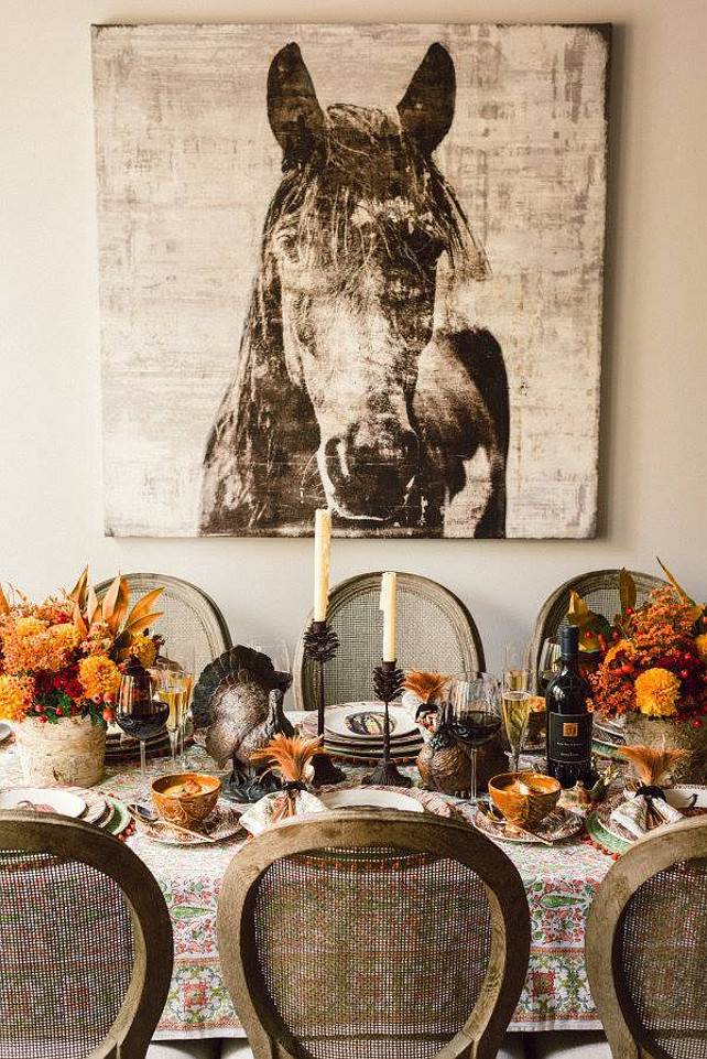 Thanksgiving Dinner Decor Ideas.  Via 86 Vintage Home.