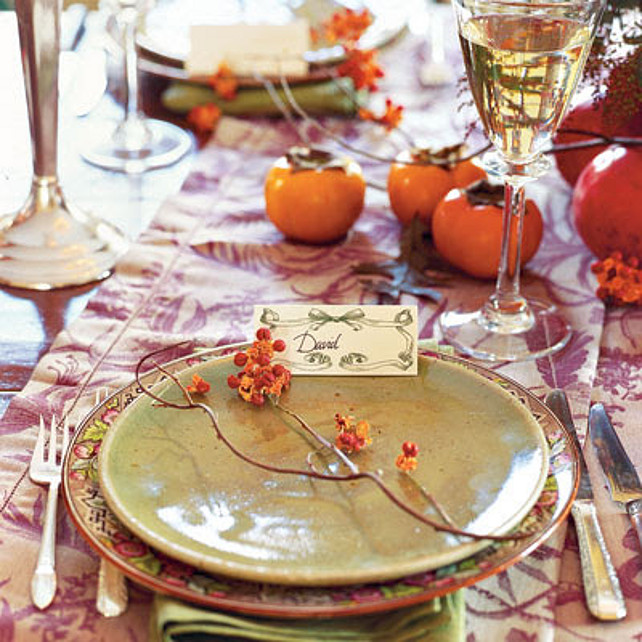 Thanksgiving Table Top Decor.  Via Party Resources.