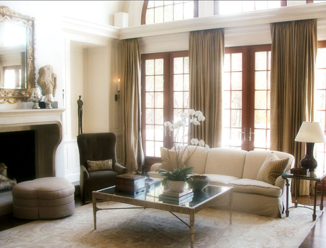Traditional Living Room. #TraditionalInteriors Designed by Brian Watford ID.