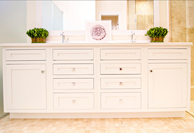 Vanity Design. Bathroom Vanity Design. Plenty of storage space in this bathroom vanity. #Vanity #Bathroom