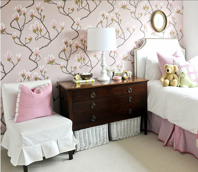 "Wallpaper Ideas. Floral Wallpaper. This wallpaper is the ""Magnolia Wallpaper by Cole & Son"". #Wallpaper #FloralWallpaper #Cole&Son Kerrisdale Design Inc."