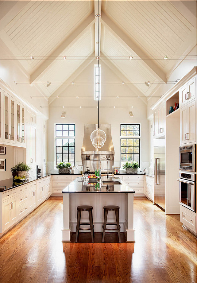 "White Kitchen Paint Color. Off-White Kitchen Paint Color: ""Sherwin Williams Alabaster SW7008"". #WhiteKitchenPaintColor #OffWhiteKitchenPaintColor #SherwinWilliamsAlabaster #SW7008 Rufty Custom Built Homes and Remodeling"