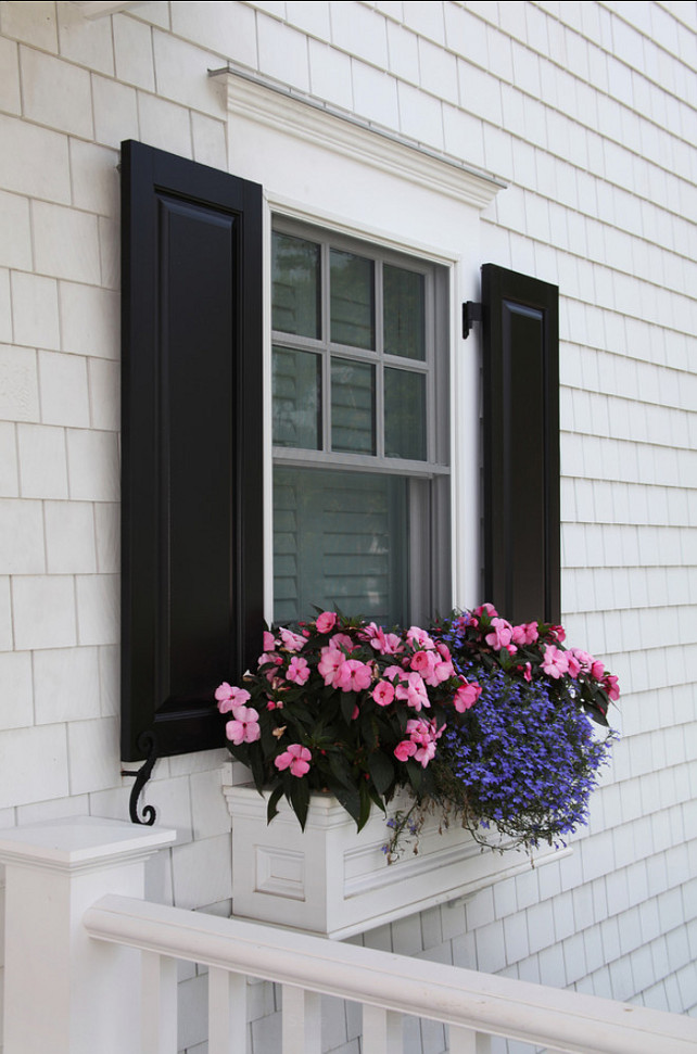 Window Box Planter. Beautiful window box ideas. #WindowBox Asher Associates Architects.